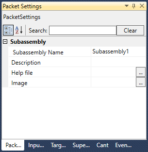 Packet Settings